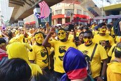 Bersih 5.0. Kuala Lumpur, Malaysia 19 Nov 2016 : Yellow shirt Supporter of Bersih 5 Rally for Free Fair Elections. Bersih organized Rallies 19 November 2016 in Royalty Free Stock Images