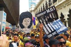 Bersih 5.0. Kuala Lumpur, Malaysia 19 Nov 2016 : Yellow shirt Supporter of Bersih 5 Rally for Free Fair Elections. Bersih organized Rallies 19 November 2016 in Royalty Free Stock Photography