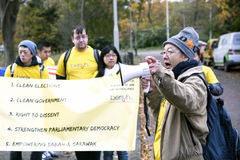 Bersih 5 (0) protestów Obrazy Stock