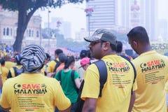 Bersih 4 0 samla på Dataran Merdeka, Kuala Lumpur Malaysia Arkivfoto
