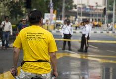 Bersih4 samlar dag 2, Malaysia Royaltyfri Bild