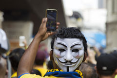 Bersih4 samlar dag 2, Malaysia Royaltyfria Bilder