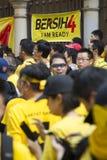 Bersih4 samlar dag 2, Malaysia Fotografering för Bildbyråer