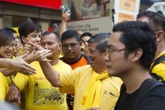 Bersih4 samlar dag 2, Malaysia Royaltyfria Foton