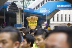 Bersih4 samlar dag 2, Malaysia Royaltyfri Fotografi