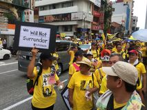 Bersih supporters demonstrate in Malaysia Stock Photography