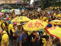 Bersih supportrar visar i Malaysia Royaltyfria Foton