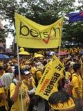 Bersih supportrar visar i Malaysia Royaltyfri Bild