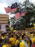 Bersih supportrar visar i Malaysia Royaltyfri Fotografi