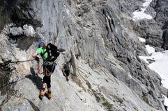 Bert-Rinesch Klettersteig, Grosser Priel, Totes Gebirge, Oberosterreich, Austria royalty free stock image