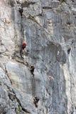 Bert-Rinesch Klettersteig, Grosser Priel, Totesgebirge, Oberosterreich, Oostenrijk Stock Foto's