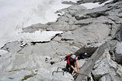 Bert-Rinesch Klettersteig, Grosser Priel, Totesgebirge, Oberosterreich, Oostenrijk Stock Afbeeldingen