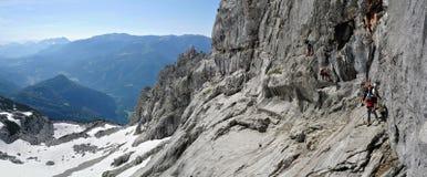 Bert-Rinesch Klettersteig, Grosser Priel, Totesgebirge, Oberosterreich, Oostenrijk Royalty-vrije Stock Foto