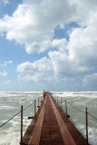 Berth. During the storm on the sea Royalty Free Stock Photography