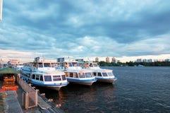Berth. Walking ships at berth sky water Stock Photography