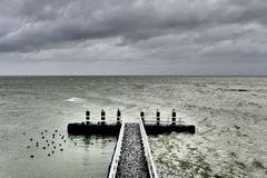 Berth on the Afsluitdijk. Stock Photo