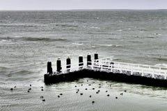 Berth on the Afsluitdijk. Stock Image