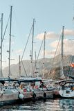 Yachts on the quay. royalty free stock photos