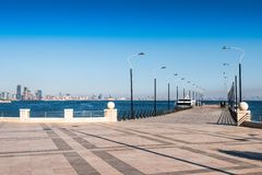 Berth on the embankment Royalty Free Stock Photography