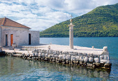 Berth of island in Kotor bay, Montenegro Royalty Free Stock Images