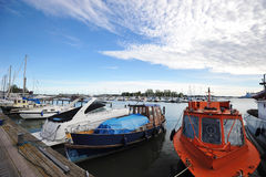 Berth Marina in the centre of Helsinki Royalty Free Stock Photography