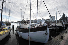 Berth Marina in the centre of Helsinki Stock Images