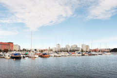 Berth Marina in the centre of Helsinki Royalty Free Stock Images