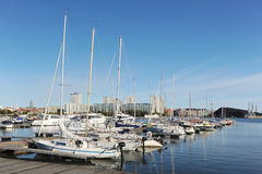 Berth Marina in the centre of Helsinki Stock Image