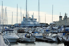 Berth Marina in the centre of Helsinki Royalty Free Stock Image