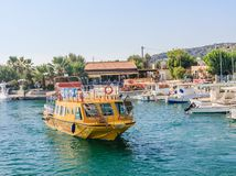 Berth in the Mediterranean resort of Faliraki. Rhodes Island. Gr Stock Photos