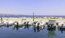 Berth in the Mediterranean resort of Faliraki. Rhodes Royalty Free Stock Photos