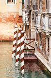 Berth with piles. Venice. Italy Royalty Free Stock Photography