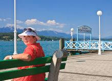 Berth resort Portschach am Worthersee. Austria Stock Photography