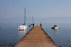 Berth on Tahoe lake Stock Photo