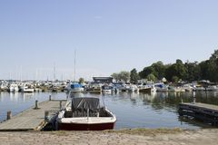 Berth for yachts stock photo
