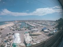 Berth with yachts in the south of France royalty free stock photo
