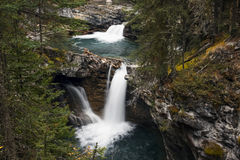 Bertha Falls in Banff Johnston Canyon Royalty Free Stock Images