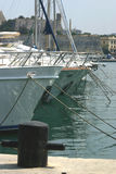 berthed яхты Стоковые Изображения