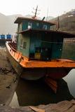 Berthed statki Obrazy Stock