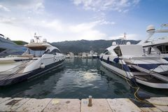 Berthed yachts Royalty Free Stock Photo