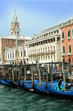 Berths with gondolas in Venice Stock Photography
