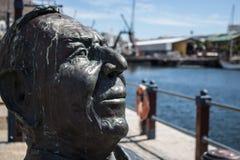 Bertie Reed Bust in V&A-Ufergegend, Cape Town stockfotografie