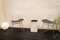 Bertoia chairs Stock Image