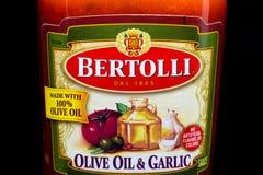 Bertolli Italian Sauce Container and Trademark Logo stock images