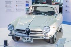 从bertone的阿尔法・罗密欧朱莉娅ss汽车在泰国国际马达商展2015年 免版税库存照片