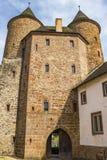 Bertradaburg, un château ruiné de colline chez Muerlenbach, Allemagne image libre de droits