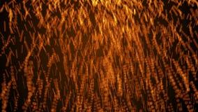 ?bertragen fallende Partikel des Feuers 3d, Effekt der Flamme, computererzeugter Hintergrund, 3d Hintergrund stock video footage