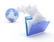 Übertragung der Dokumente. Stockfotografie