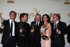 Bertram van Munster, Elise Doganieri, Jerry Bruckheimer, Phil Keoghan Stock Photography