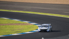 Bertrand Baguette of NAKAJIMA RACING in GT500 Qualiflying Catego. BURIRUM, THAILAND - OCTOBER 4 : Bertrand Baguette of NAKAJIMA RACING in GT500 Qualiflying Stock Photos
